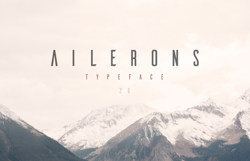 Ailerons Typeface free download