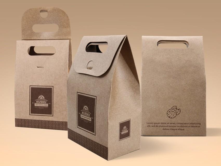 Cake Cookie Kraft paper Bag Mockup