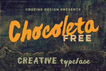 chocoleta-brush-font-free