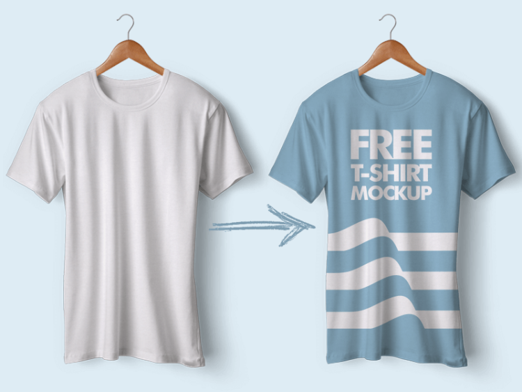 30 free psd mockup templates 2018 pixlov for T shirt mockup template free download