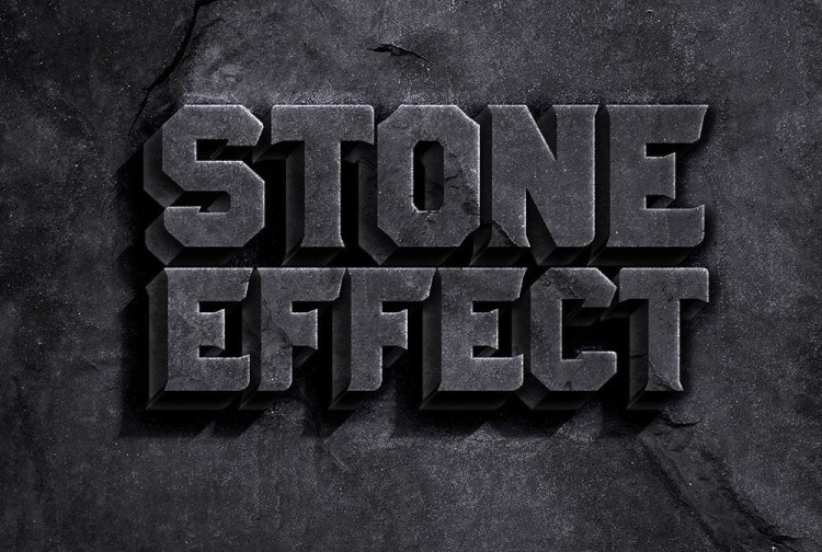 Stone Text Effect PSD | Pixlov
