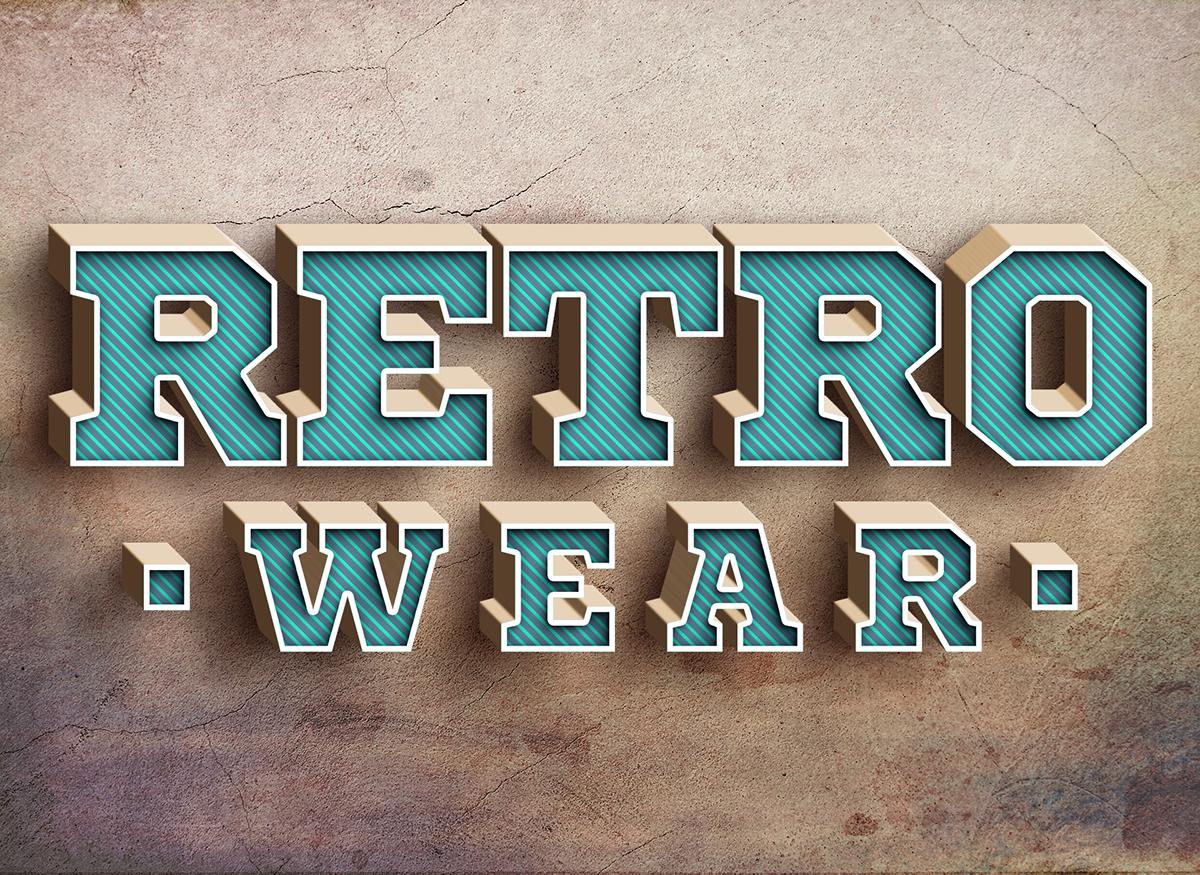 3d-retro-text-effect