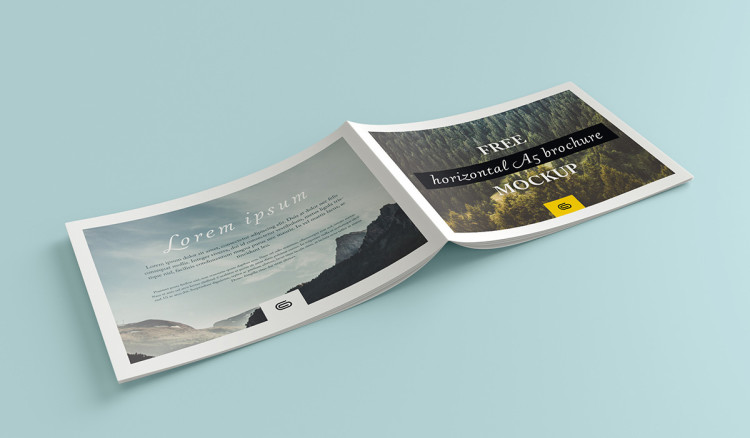 Free Landscape Brochure Psd Mockup Pixlov