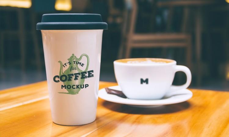 Coffee Mug PSD Mockup