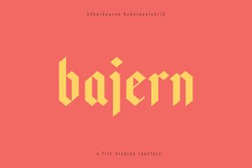 Bajern free Typeface