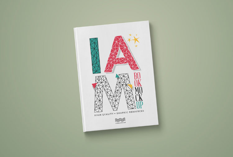 Free Handcover Book PSD Mockup