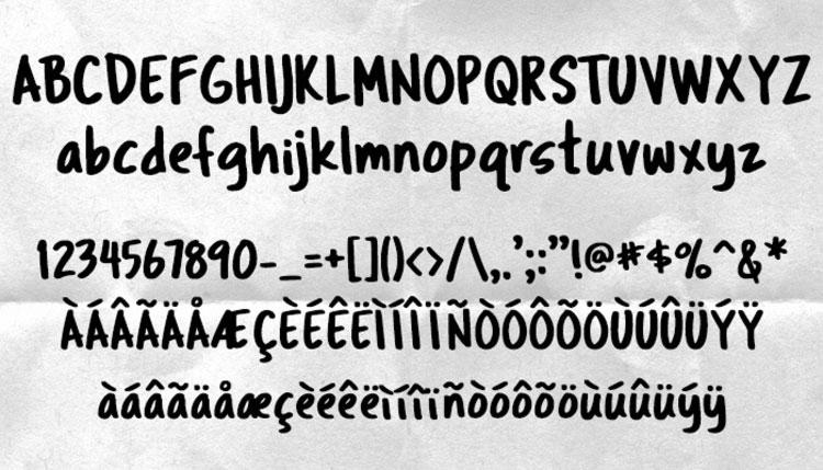 Tragic Marker free font