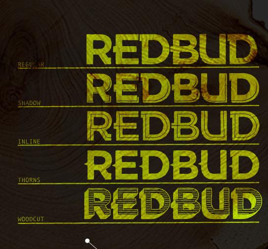 Free redbud font