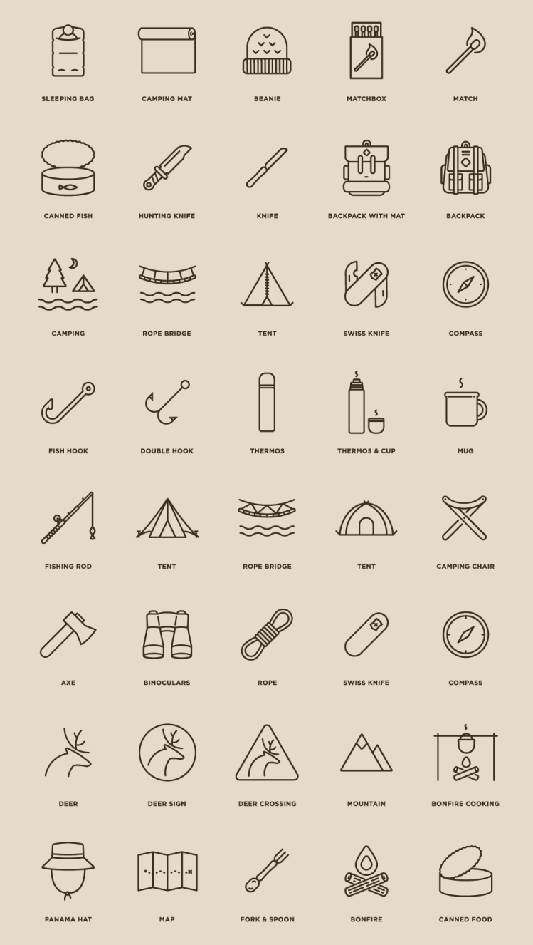 free-camping-icons