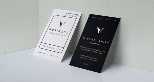 Psd Business Card Mock Up Vol27