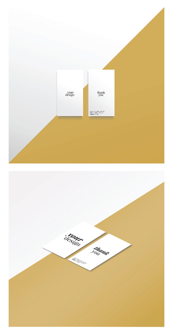clean business card mockup psd