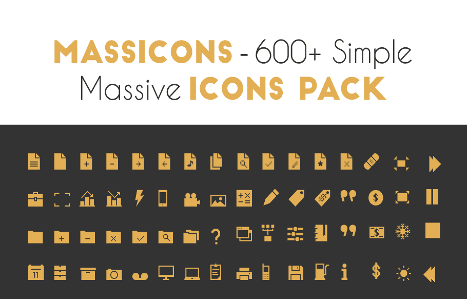 Massicons 600+ Free Icons Pack