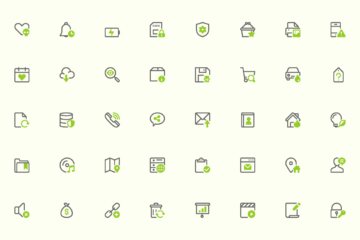 40 Free Mini Icons set