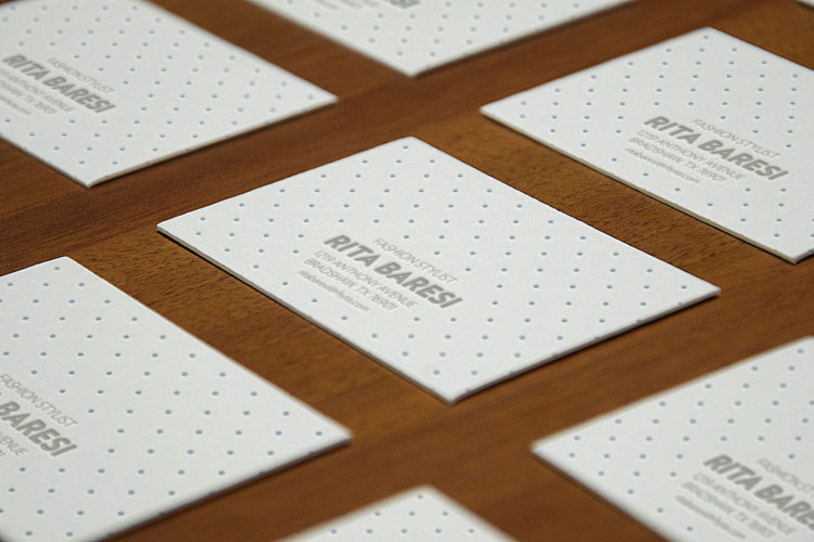 Letterpress B-Cards Perspective MockUp