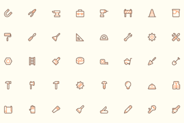 40 Free Vector Tools Icons