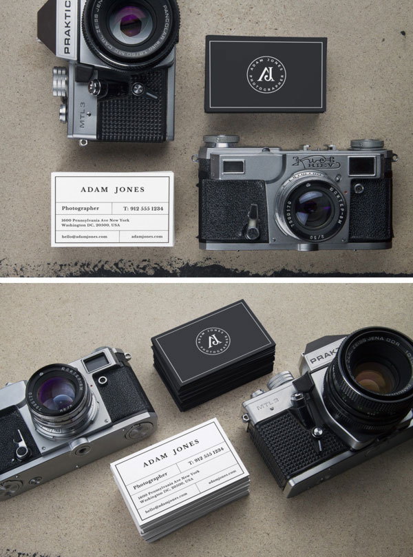 Vintage Cameras & B-Cards MockUp