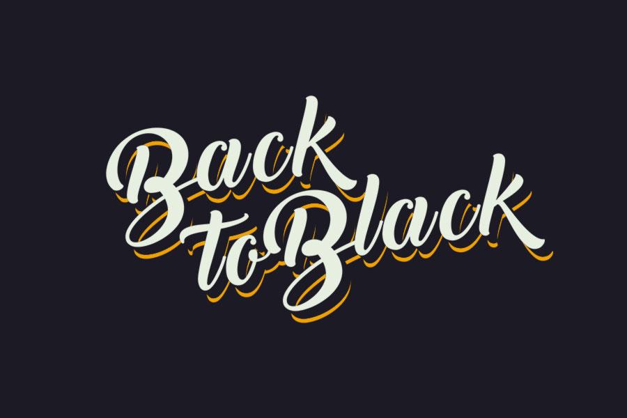Back to black free script font pixlov