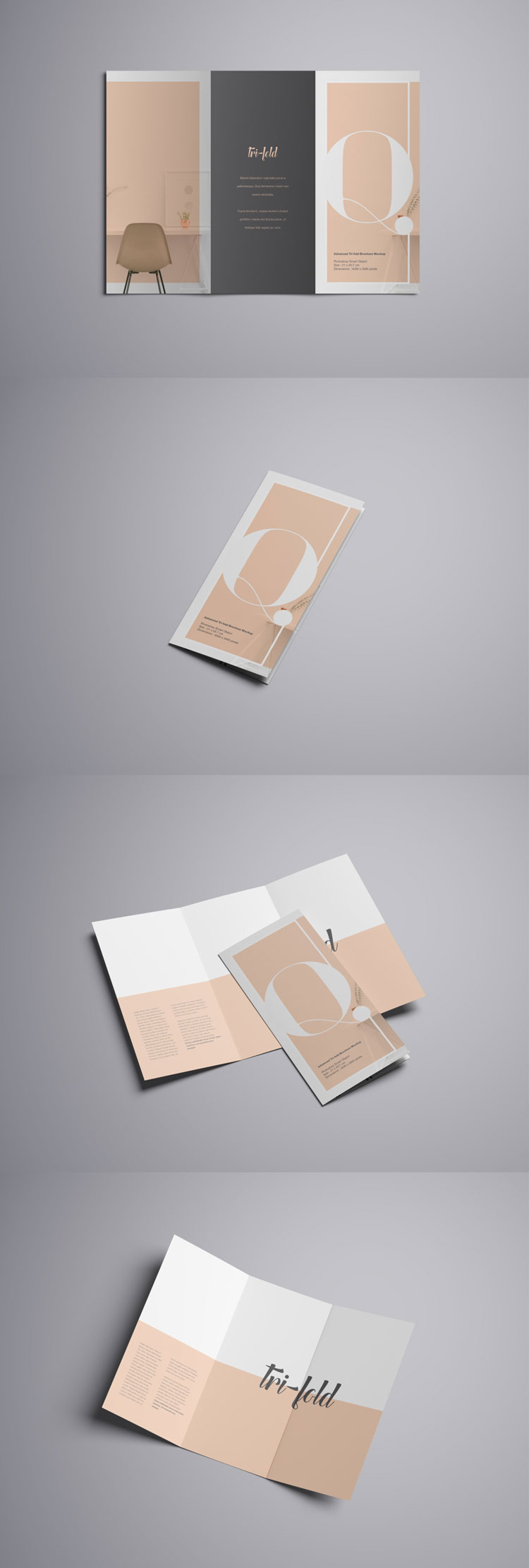 Advanced Trifold Brochure Free PSD Mockup