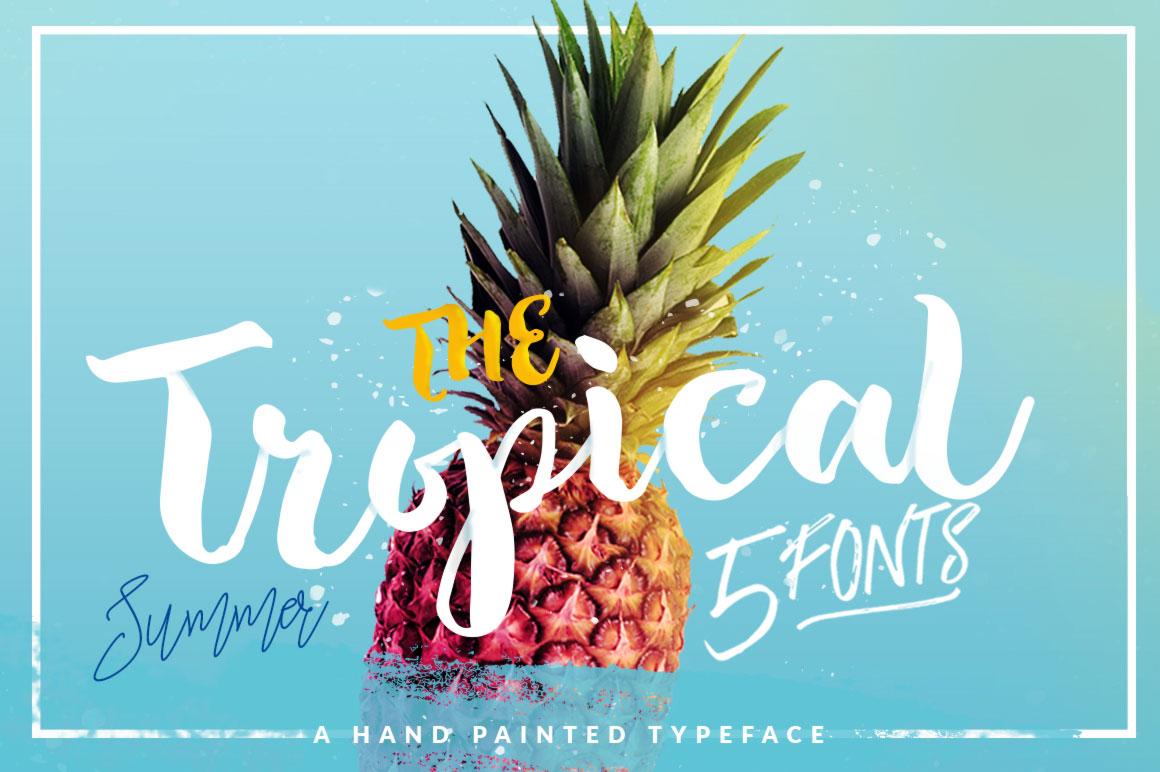 Tropical Brush Script Free Font