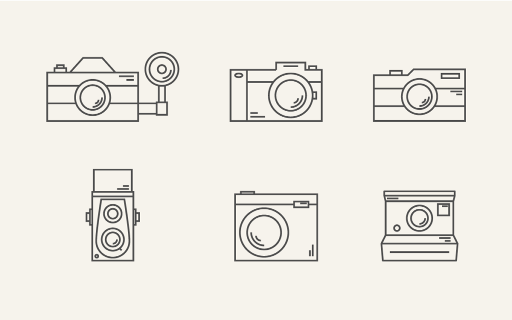 Photography Camera Free Icon Set