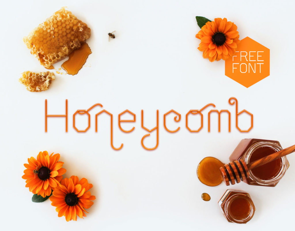 Honeycomb-free-display-font