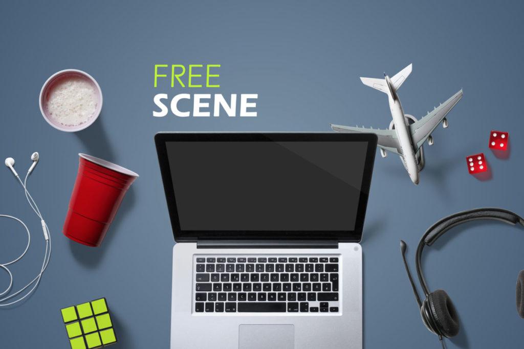 Free Entertainment Scene PSD Mockup