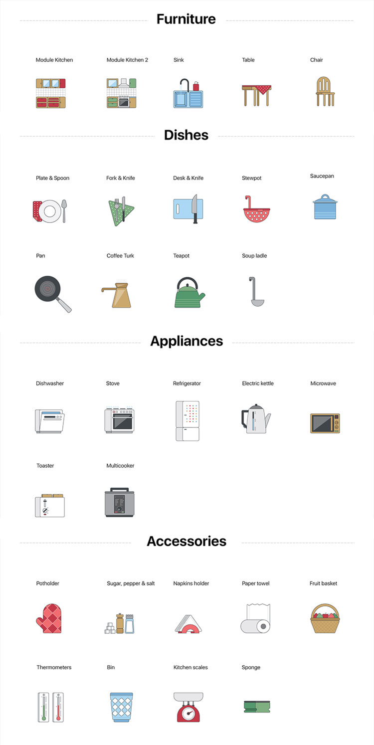 Free-Kitchen-Furniture-Icons-Collection