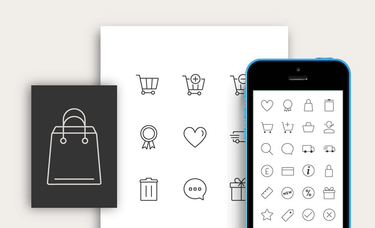 Free Responsive E commerce Icons