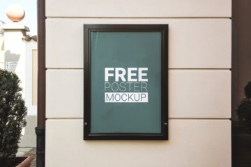 Free Wall Poster Psd MockUp
