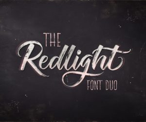 The Redlight Free Font
