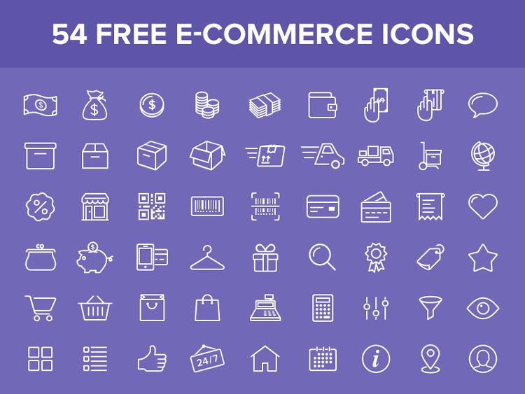 54 Free e-commerce icons