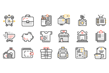 30 Free Web Design Line Icons