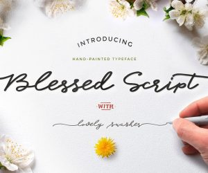 Blessed-Free-Script-Font