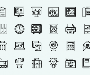 Free Office Vector Icon Set