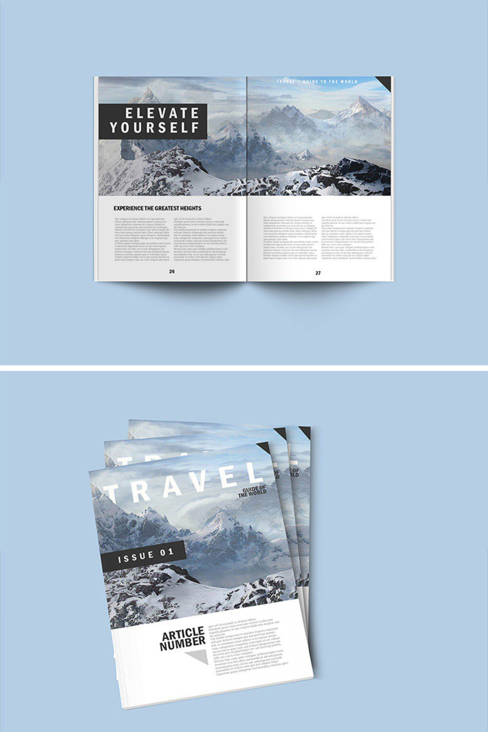 PSD Magazine Mock Up (FREE)
