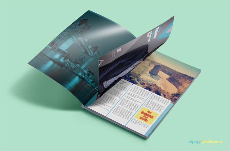 FREE CUSTOMIZABLE MAGAZINE AD PSD MOCKUP
