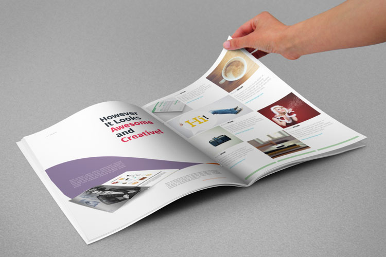 freebie magazine psd man hand