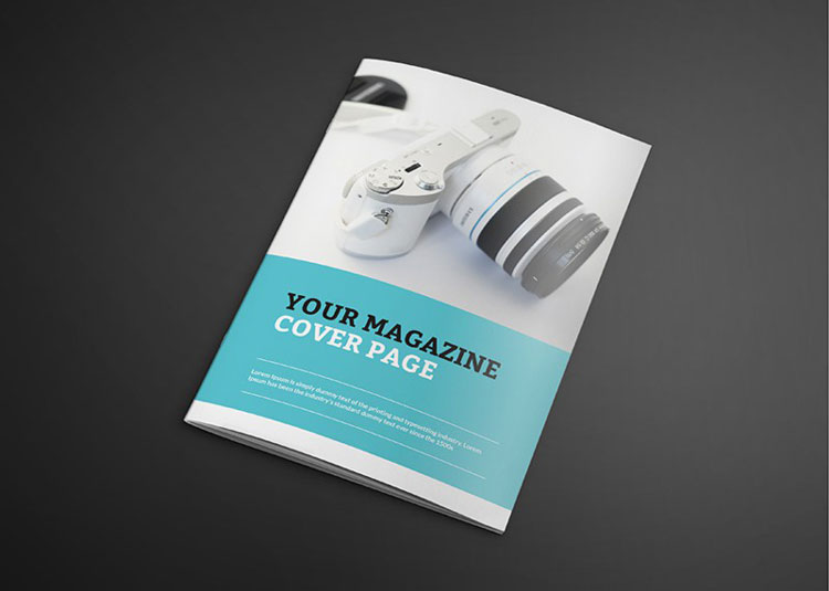 Photorealistic catalogue magazine mockup