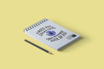 Free Ringed Notepad Psd Mockup