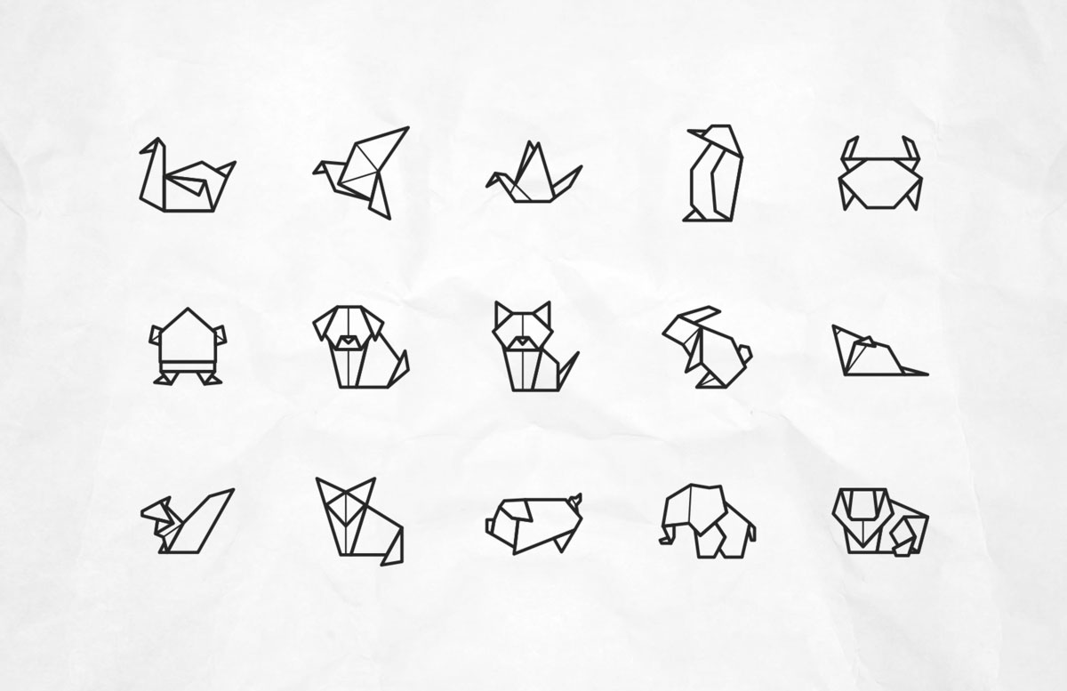Origami Animal Free Vector Icons Pixlov